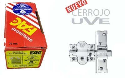 NUEVOS – Cerrojos Serie UVE con bombillo en 70 mm.